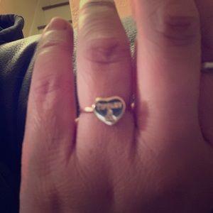 18k karat gold heart ring Tiffany size 6.5